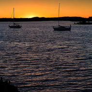 Sunset over the Clarence River.