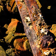 Old rail rusting away.