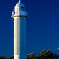 Late afternoon sun bathes the Clarence River lighthouse at Yamba.