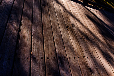 Thumbnail image of Textures of the deck of a bridge.