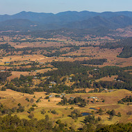 Panorama from the Mt Mee road southwards towards Brisbane city.