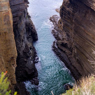 Tasman Arch natural rock formation.