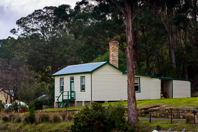 Thumbnail image of Jetty cottage on the Port Arthur historic site.
