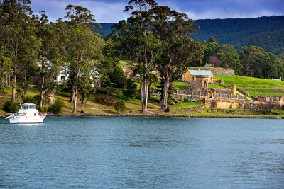 Thumbnail image of Commandant's house and gardens on the Port Arthur...