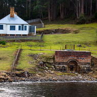 Lime kiln and shipwright's house at Port Arthur historic site.