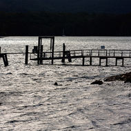 Jetty at Isle of the Dead, a cemetery of Port Arthur convict prison.