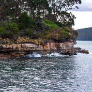 Point Puer, the site of the boys' prison associated with Port Arthur convict prison.