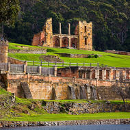 Ruins of the hospital at Port Arthur convict prison.