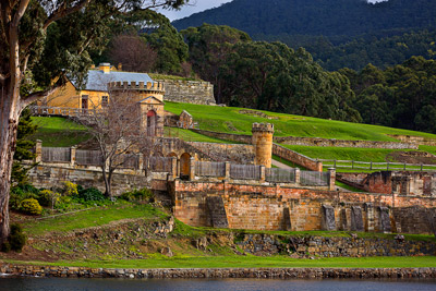 Thumbnail image ofGuard tower and officers' quarters at Port Arthur...