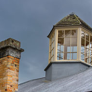 Roof of the penitentiary at Port Arthur convict prison.