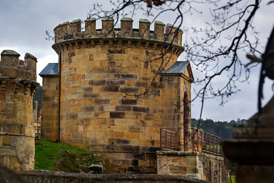 Thumbnail image of Guard towers at Port Arthur convict prison.