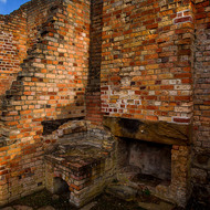 Remnants of the officers' quarters at the Port Arthur convict prison.