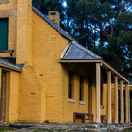 Smith O'Brien's cottage at the Porh Arthur convict prison.