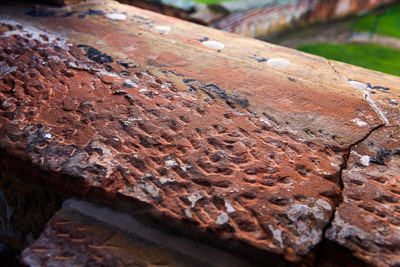 Thumbnail image ofHand worked sandstone window sill in the prison...