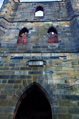 Thumbnail image ofLooking up at the front of Port Arthur prison...
