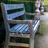 Garden bench seat, rest for the weary in the grounds of the convict prison.