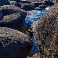 Boulders and rocks at Bicheno.