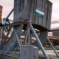 Counterweight of the Constitution Dock lifting bridge.