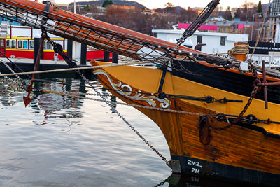 Thumbnail image ofDecorated prow of a boat in Constitution Dock.