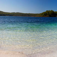 Panorama of Lake McKenzie.