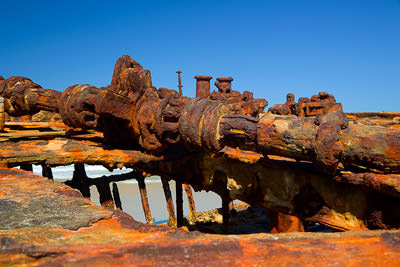 Thumbnail image ofRusting away, the wrecked ship Maheno on the east...