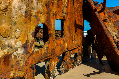 Thumbnail image ofRusting away, the wrecked Maheno on the east cost...