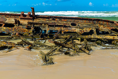 Thumbnail image ofSmall section of deck planking on the wrecked...