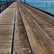 Kingfisher Bay jetty, popular with anglers.