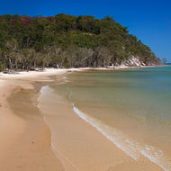 Kingfisher Bay beach.