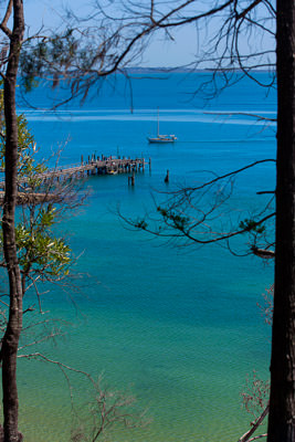 Thumbnail image ofKingfisher Bay jetty, Great Sandy Strait and the...