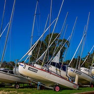 Chair up: yachts at Noosa River Yacht and Rowing Club.