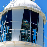 Fresnel lens of Smoky Cape lighthouse.
