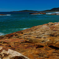 Swimming beaches of South West Rocks and across Trial Bay to the Trail Bay Goal.