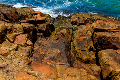 Thumbnail image ofSwirling sea and slippery rocks on the point at...