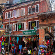 Street scene in the Thamel district of Kathmandu.
