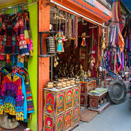 Thamel district shopping.