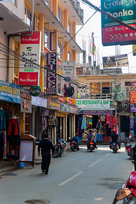 Thumbnail image ofBusy, narrow streets of Thamel district.