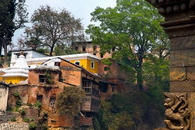 Thumbnail image ofBuildings along the Bagmati River at the Pashupati...