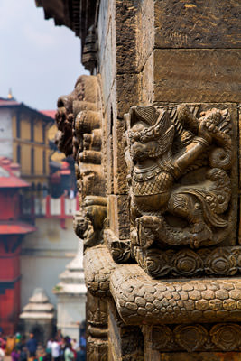 Thumbnail image ofCorner decoration on a small shrine in the Pashupati...