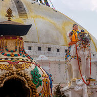 The Great Boudha Stupa watching.