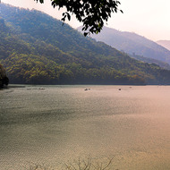 Late afternoon light over Phewa Lake.