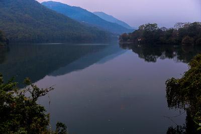 Thumbnail image ofPhewa Lake in the cool dawn light.