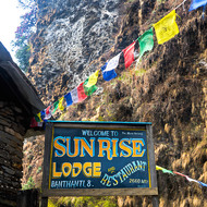 Sunrise hotel, 2660 metres above sea level.