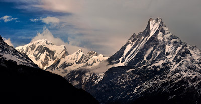 Thumbnail image ofAnnapurna Range in late afternoon as darkness...