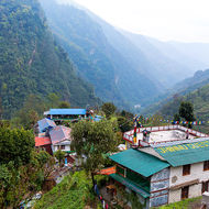 Jhinu guest house at the head of the long Modi Khola valley.
