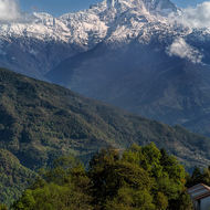 Fishtail mountain, Machhapuchhre, just one valley over.