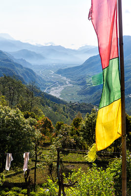 Thumbnail image ofThe valley of the Ghobang Khola and the road to...