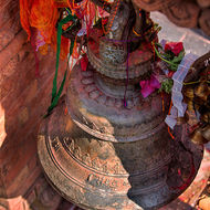 Bell at Taal Barahi temple.
