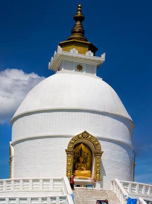 Thumbnail image ofShanti Stupa, peace pagoda, Ananda Hill.