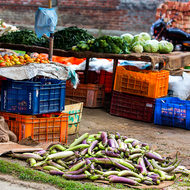 Roadside vegetable shop.